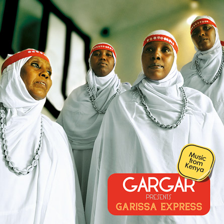 The CD cover for Garissa Express, the debut CD by the female quartet Gargar.