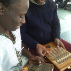 Makadem in a Kalimba session with Lolendo Mvulu