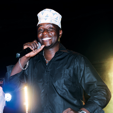 Bado during a performance at the Godown.