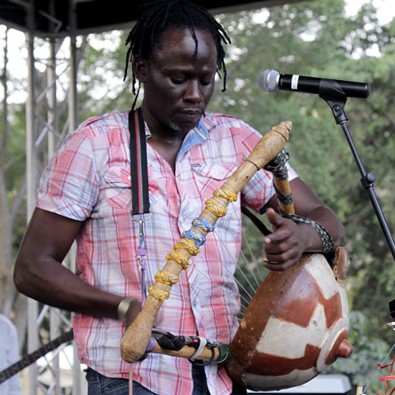 Makadem performing his song 'Mganga Mkuu' at the Spotlight on Kenyan Music stage