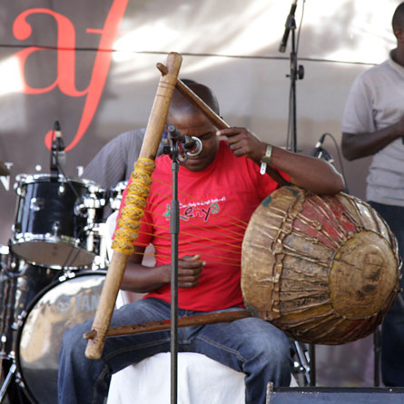 Ontiri Bikundo playing the obukano