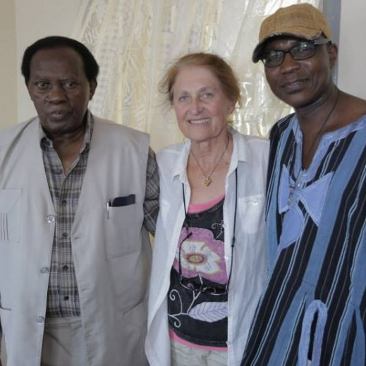 Left to right: Michael Kinyany Prof. Diane Thram (Director ILAM), Tabu Osusa (Founding Director Ketebul Music)
