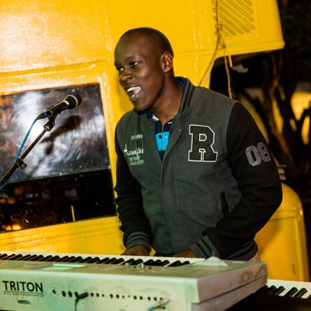 Keyboardist Gervais Katumba