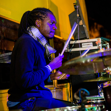 Gervais Katumba on drums